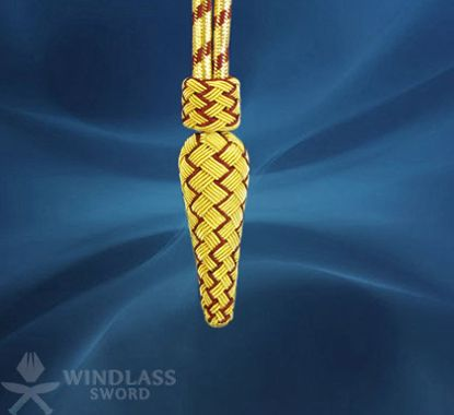 Gold and Crimson Corded Knot